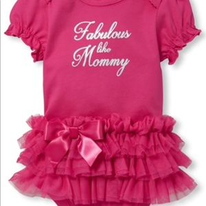 One Pieces - 💕 Fabulous Like Mommy Tutu Graphic Bodysuit